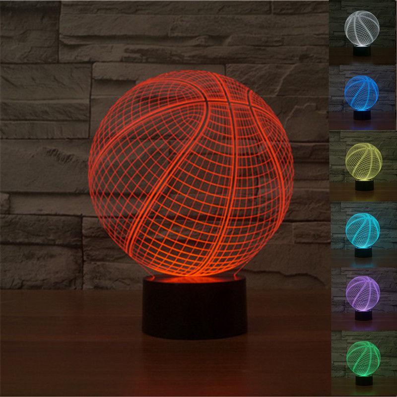 buy 2016 creative basketball 3d lamp. Black Bedroom Furniture Sets. Home Design Ideas