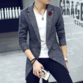 HRM Men in long coat jacket young male Korean Slim woolen coat spring and Spring Phi wave of British student