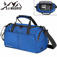 SJ Maurie Bag for Gym Waterproof Outdoor Sports Yoga Basketball Fitness Travel Bags with Shoes Storage Black Blue Gray Red Green