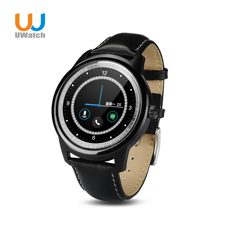 UWatch New Smart Watches DM360 upgrade DM365 Bluetooth 4 0 MTK2502 IP67 Round Waterproof IOS Android
