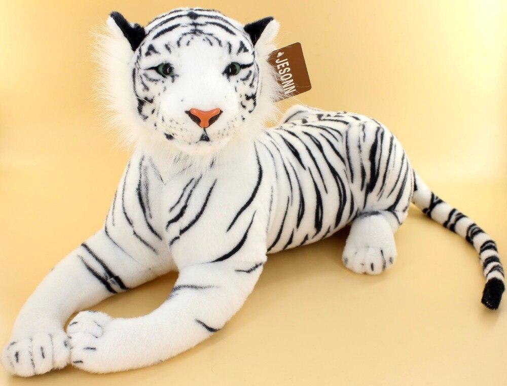 Juguetes De Peluche Realistas De Los Tigres Blancos De Los Animales
