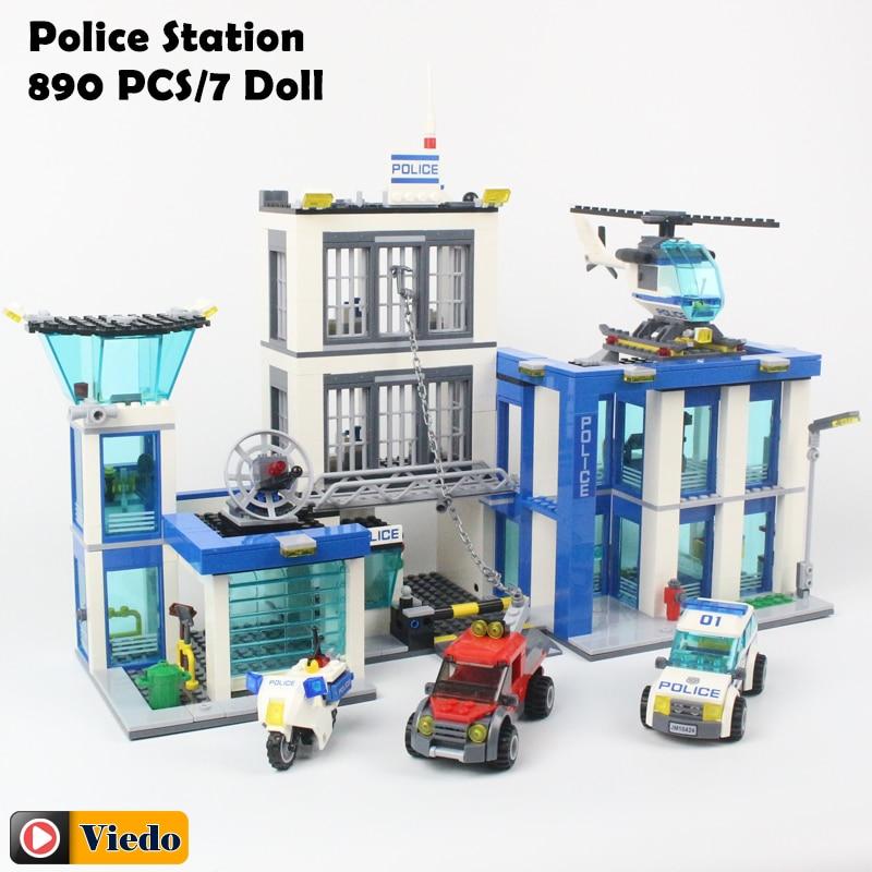 Bela 10424 City Police Station motorbike helicopter Model building kits compatible with lego city 60047 blocks Educational toys bela 10424 urban city police police guard building block toys compatible with 60047