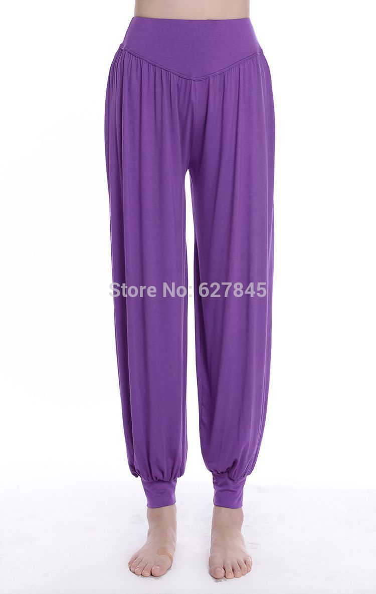 Dependable Various Color Pantalettes Dancing Sportswear Large Size Loose Long Pants Home