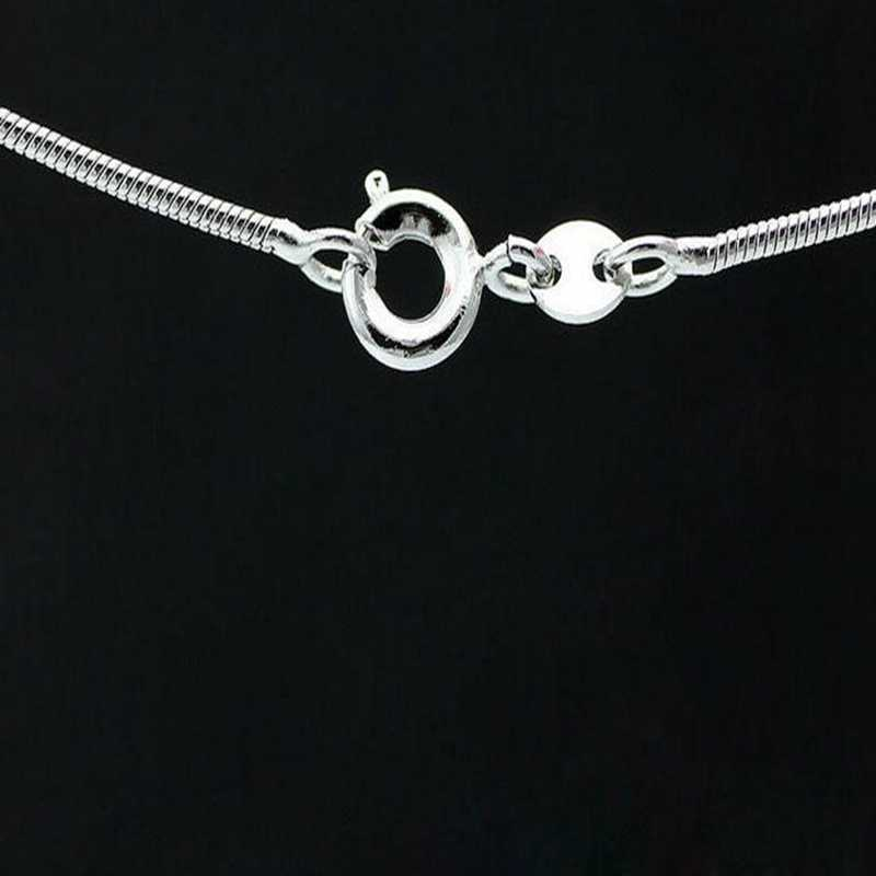 FUNIQUE 2018 Women Men Necklace Snake Smooth Lobster Clasp Link Silver Jewelry DIY Charm Long Chain Necklace 18-22inch