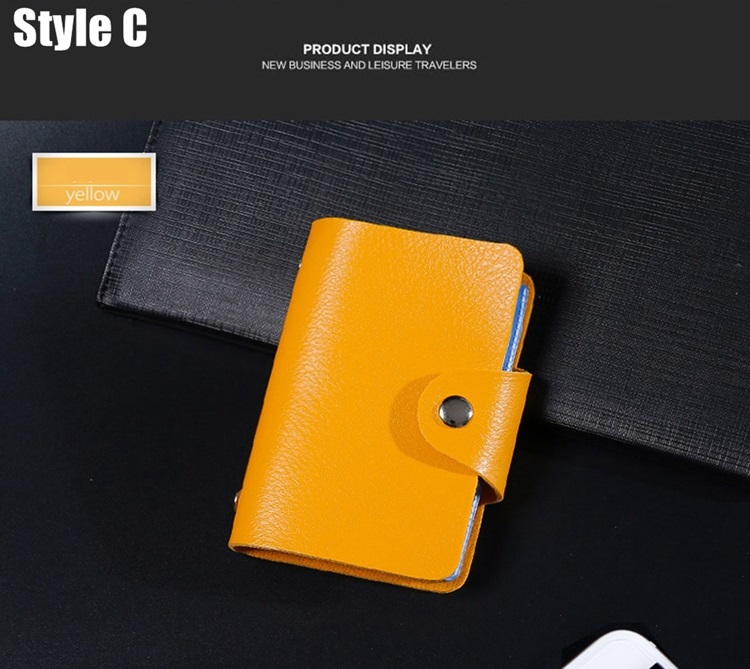 HTB10 EQcLWG3KVjSZFgq6zTspXaW - New PU Leather Function 24 Bits Card Case Business Card Holder Men Women Credit Passport Card Bag ID Passport Card Wallet H088