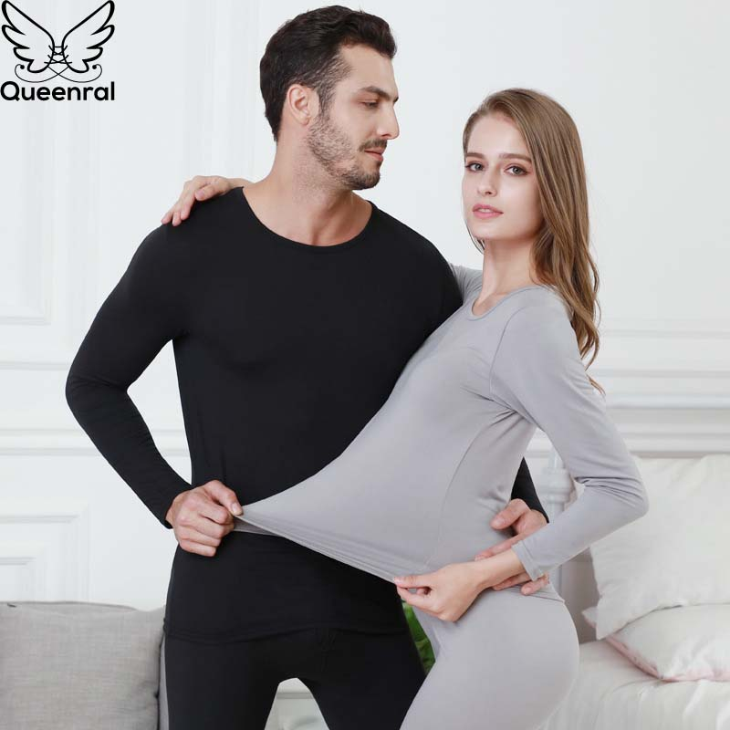 Queenral Thermal Underwear For Women/Men Winter Clothing Long Johns Plus Size 2XL 3XL 4XL 5XL 6XL Warm Thermal Underwear Set