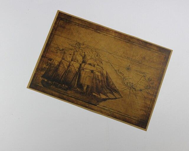 Retro Art Woonkamer : Classic zeil zee wereld kaarten oude papier zeilboot poster retro