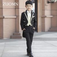 Children's Costume For Boys Blazers Kids Child Tuxedo Costumes Black Boy Suit Formal Wedding Clothes Party Suits GH324