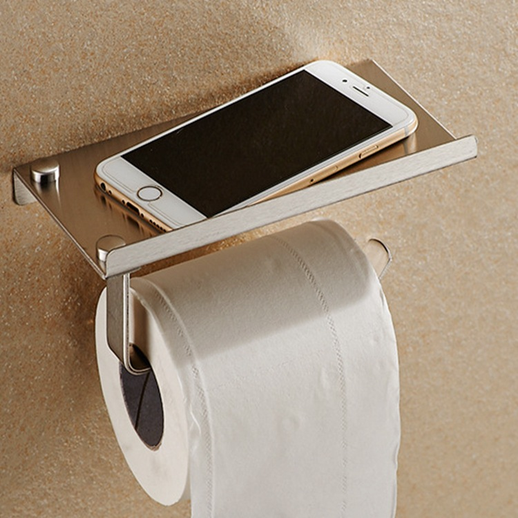Stainless Steel Bathroom Paper Holder Phone Wall Mounted Tissue Roller Chrome Polish Toilet With In Holders From Home