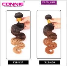 Ombre Brazilian Hair Body Wave 1Bundle Brazilian Virgin Hair Ombre Hair Extensions T1b/4/27 Ombre Human Hair Weave