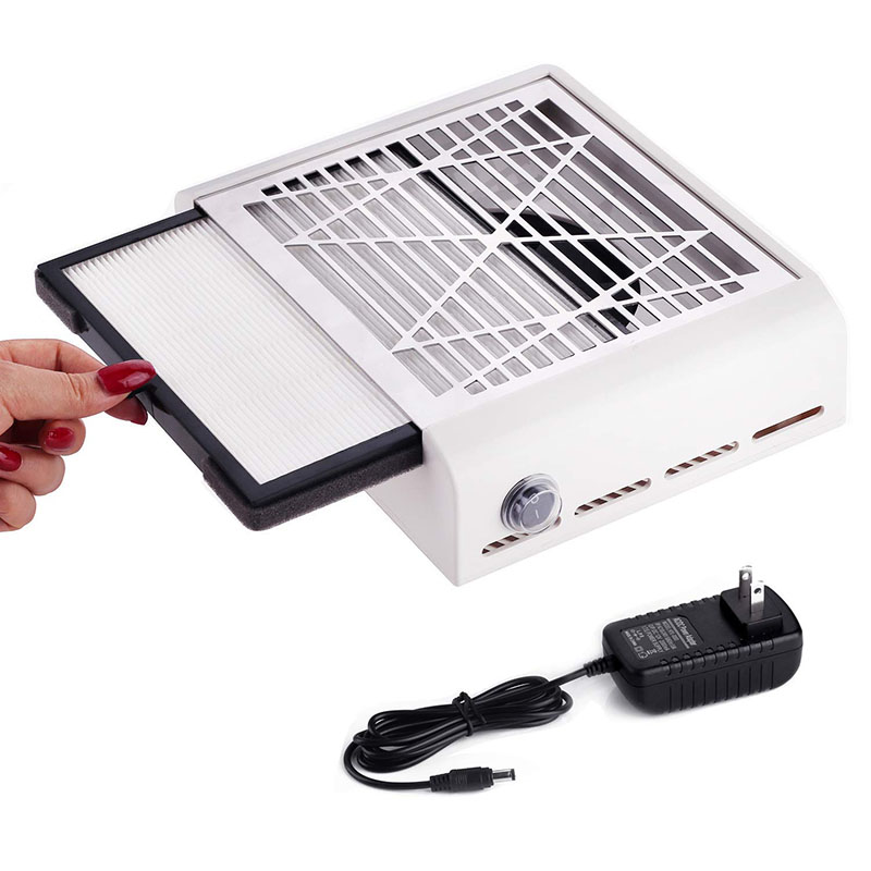 40W New Strong Power Nail Dust Collector Nail Fan Art Salon Suction Dust Collector Machine Vacuum Cleaner Fan
