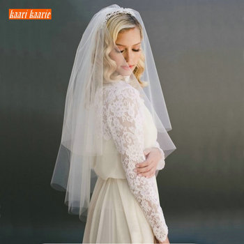 Fashion White Short bridal veil two layer 75cm with combe Ivory veils for wedding party tulle veiling 2020 new arrival yashmac