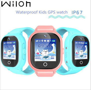 2019 hot GPS tracking watch for kids IP67 waterproof GPS Smart Watch swimming camera children Watch touch Screen SOS Call TD-05