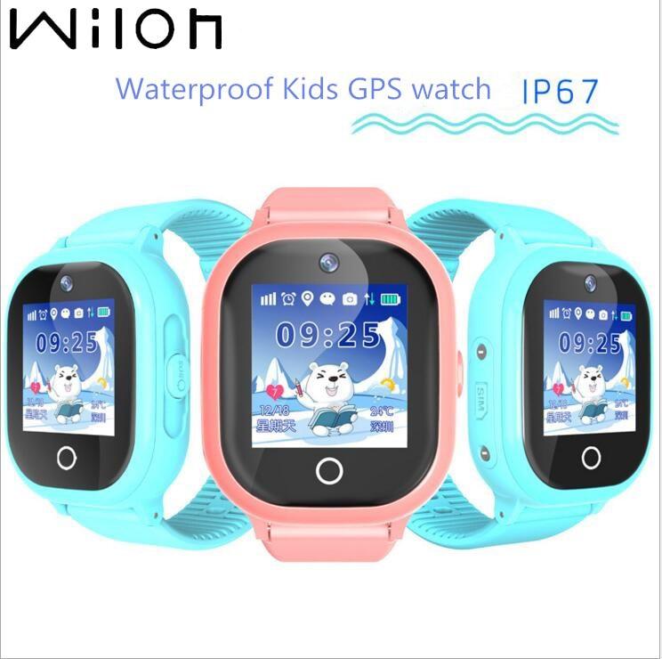 2019 hot GPS suivi montre pour enfants IP67 étanche GPS montre intelligente natation caméra enfants regarder écran tactile SOS appel TD 05-in Montres enfant from Montres    1