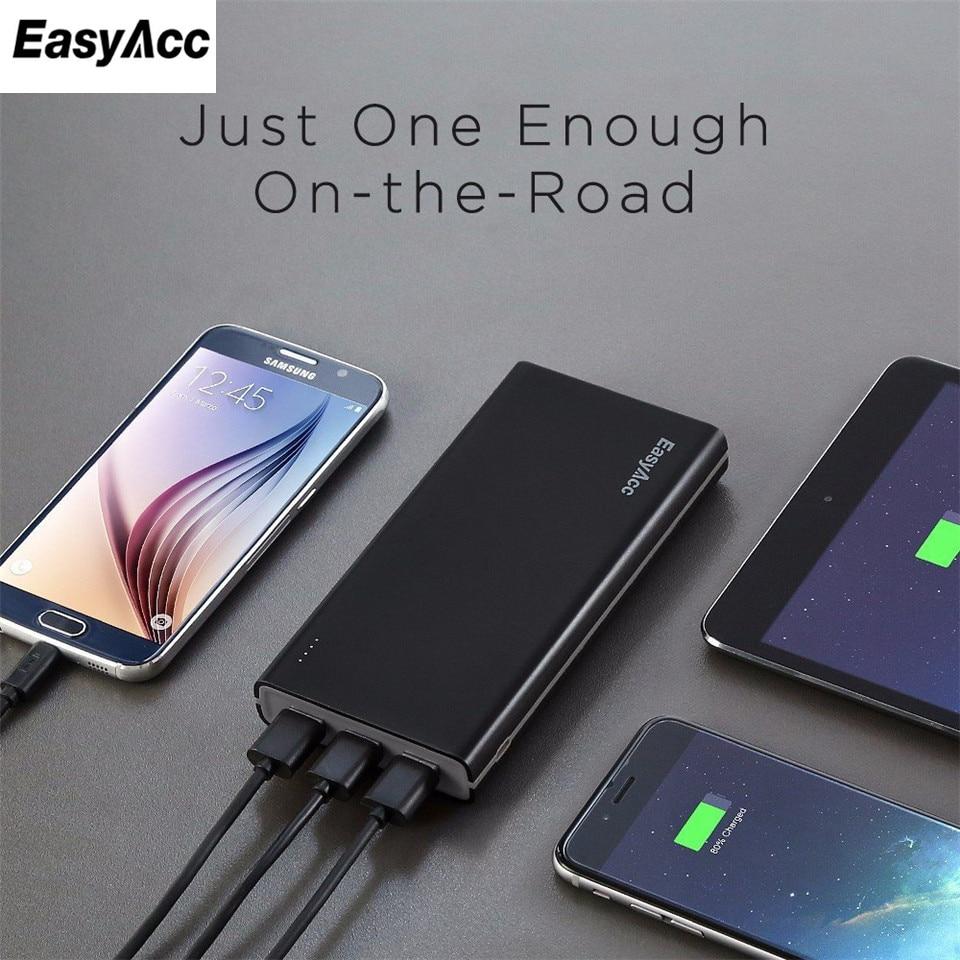 imágenes para Easyacc cargador portátil 15000 mah banco de la energía de batería externa con 3 puertos usb de viaje powerbank para iphone xiaomi tablet gary