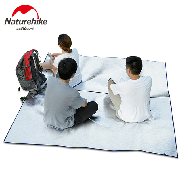Naturehike Foil C&ing Tent Mat Ground Sheet Moistureproof Pad Outdoor Picnic Mat Thicken Groundsheet 2x2 m  sc 1 st  AliExpress.com & Naturehike Foil Camping Tent Mat Ground Sheet Moistureproof Pad ...