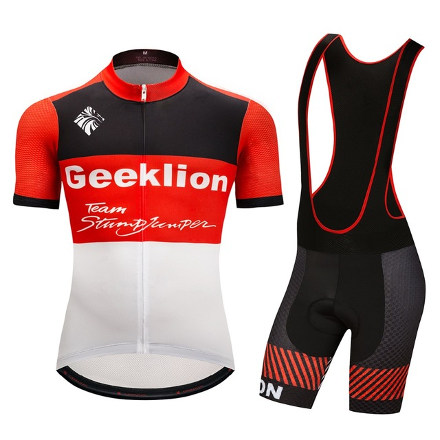 Geeklion Ciclismo 2018 Cycling Set Pro Team Training Cycling Jersey and Bib Shorts  Bicycle Wear Maillot Ropa Ciclismo df76182ed