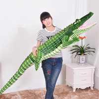 Riesen Drop verschiffen Kreative Simulation Nette Krokodil Lustige Gefüllte Plüsch Spielzeug Puppe Weiche Tiere Kissen Kinder Geburtstag Geschenk 1M -2M
