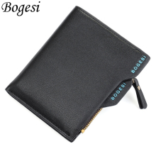 Bogesi New Small Luxury Brand Coin Male Men Wallet Purse Clutch Handy Portfolio Portomonee Walet Bag Cuzdan Money Fashion Vallet betiteto brand genuine leather men wallet male coin purse handy vallet carteras money bag clutch kashelek portomonee partmone