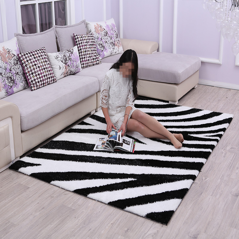 2018 Polyester carpet coffee table room bedroom living room Rug garden kids mat computer chair swivel cushion Home Decoration ...