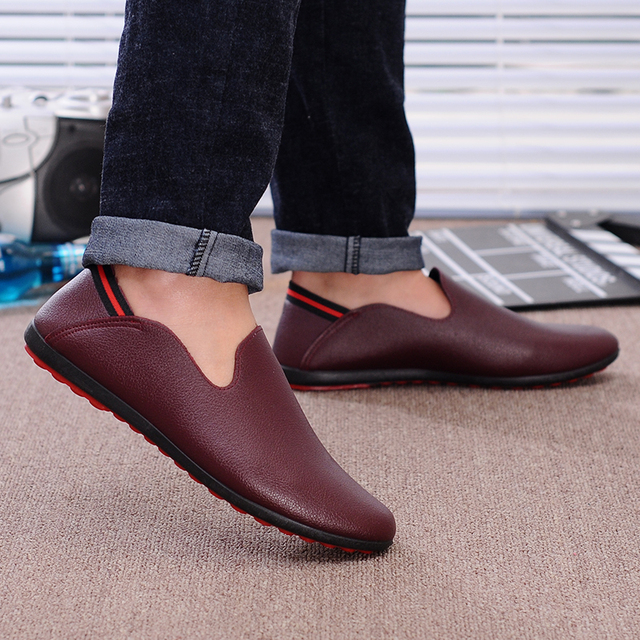 Hommes chaussures 2016 ample mode chaussures hommes en cuir hommes  mocassins moccasin chaussures, Hommes appartements 8ff753e2fa4a