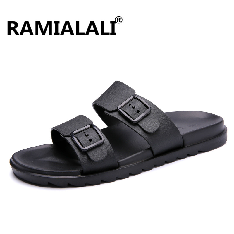 Ramialali Summer Men Designer Flip Flops Men's Casual Sandals Fashion Slippers Breathable Beach Shoes Slides Beach Water Shoes