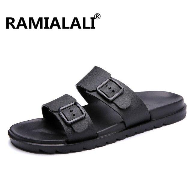 59e627d4af12fd Ramialali Summer Men Designer Flip Flops Men s Casual Sandals Fashion Slippers  Breathable Beach Shoes Slides Beach