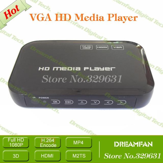 1080P Full HD HDD Media Player with SD/ USB/ HDD HDMI/ AV/ VGA/ YPbpr DIVX AVI RMVB MP4 H.264 FLV MKV Music Movie Free Shipping