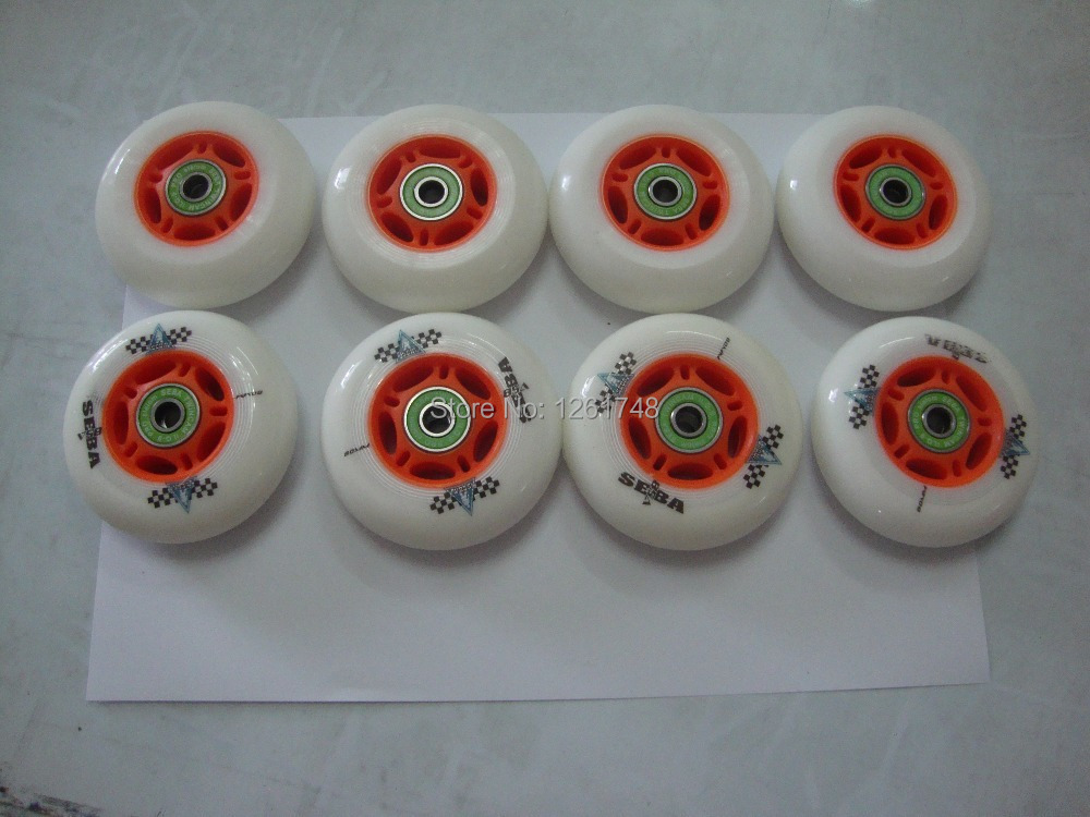 8PCS 72/76/80mm SEBA Street Invaders Skating Wheels With  ILQ-9 Bearings 85A FSK Inline Roller Slalom Skates Wheels