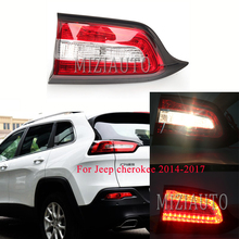 цена на MIZIAUTO Inner side Rear Tail Light for Jeep cherokee 2014-2017 external replacement Parts Rear Bumper Stop Lamp assembly
