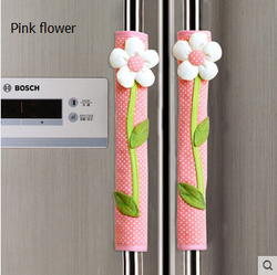 Free shipping new european style brown pleuche lace flower fridge door handle cloth kitchen refrigerator handle.jpg 250x250