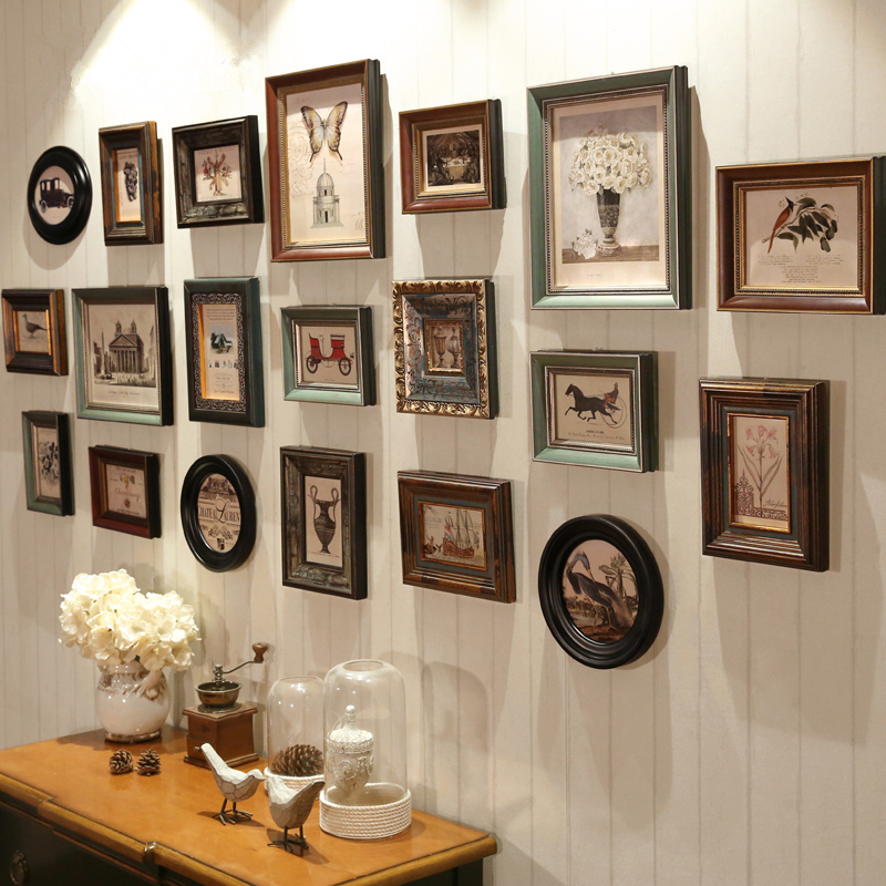 Большой Размеры фото стена творческий украшения домашняя фоторамка 20 шт./компл. классический, в ретро стиле фоторамка для Гостиная стене ви