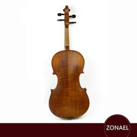 ZONAEL Light Solid Wood Violin 4/4 Craft Stripe Violino for Adult Students Beginner Case Mute Bow Strings