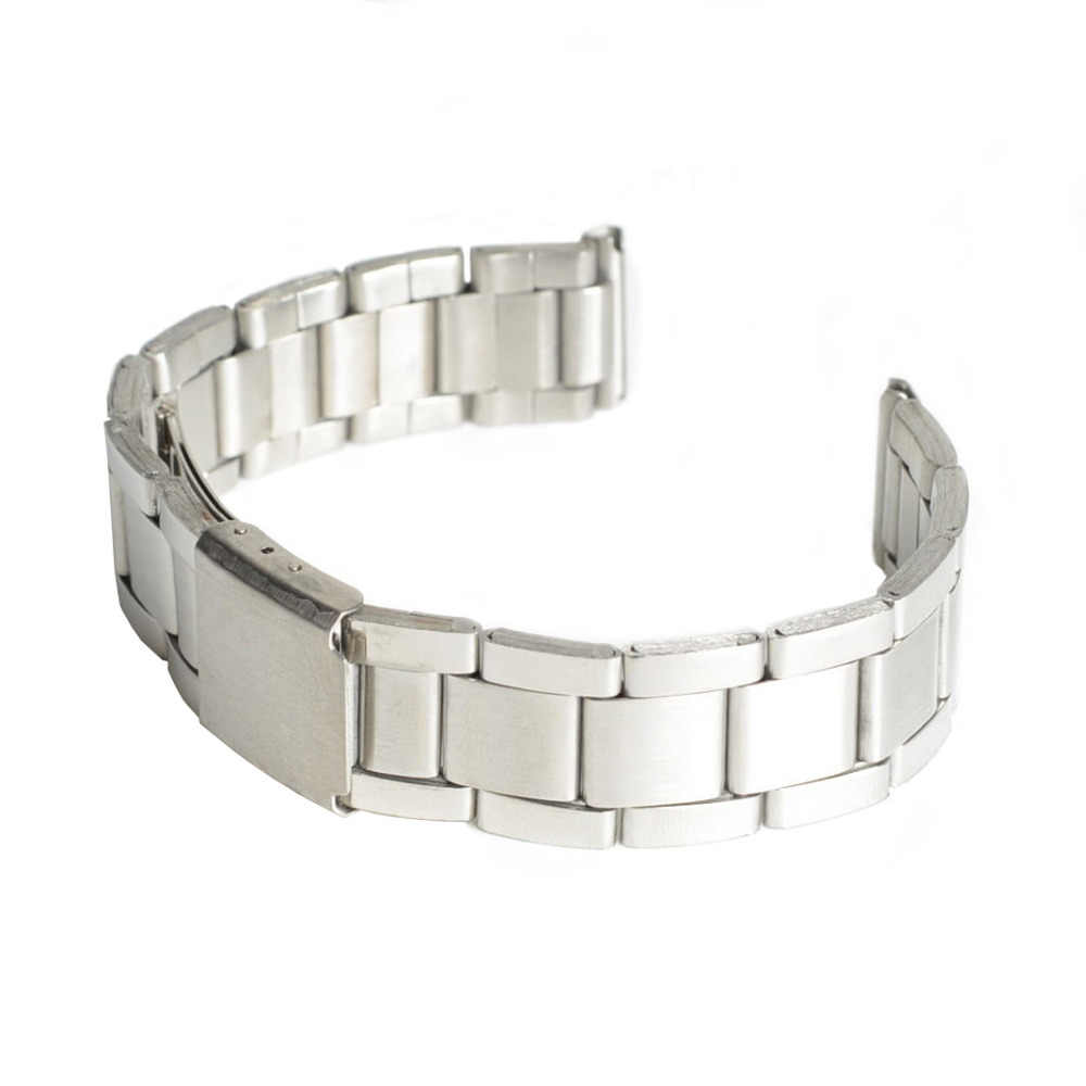 2019 New Stainless Steel Strap Silver Wrist Watch Bracelet With Folding Clasp Hot Men Women Metal Watchband