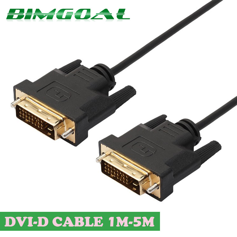 High speed DVI cable male to male DVI to dvi cable 1M,2M,3M Gold Plated Plug  1080p for LCD DVD HDTV XBOX