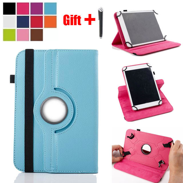 360 Degree Rotating Universal PU Leather cover Case for Alcatel ONETOUCH ONE TOUCH Pixi 3 (10) 9010X 10.1 inch Tablet + Gift