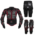 New Motorcycle Motocross Off-Road Enduro Racing Full Body Protective Gear Protector Armor Jacket + Hip Pads Shorts + Knee Pads