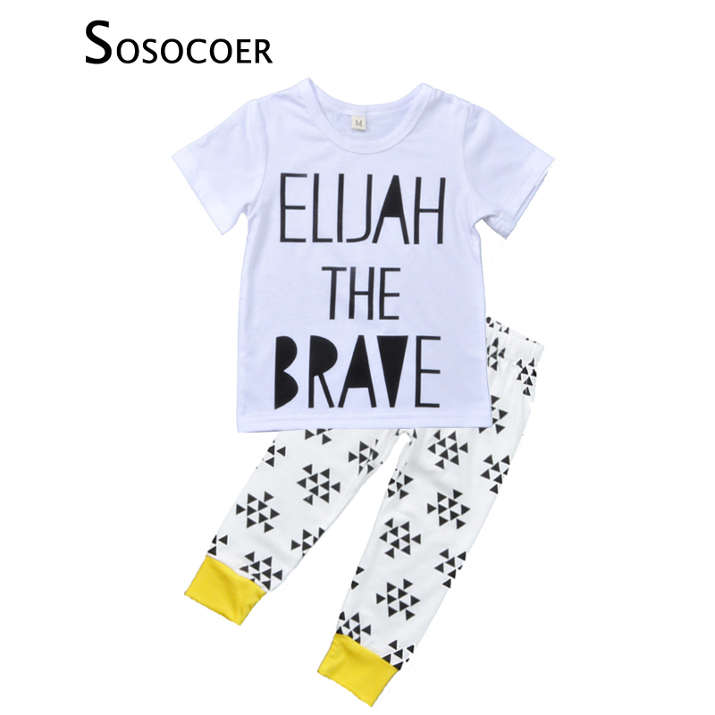 d8a5324e2 SOSOCOER Baby Boy Clothing Sets Summer Short sleeve T shirts+ ...