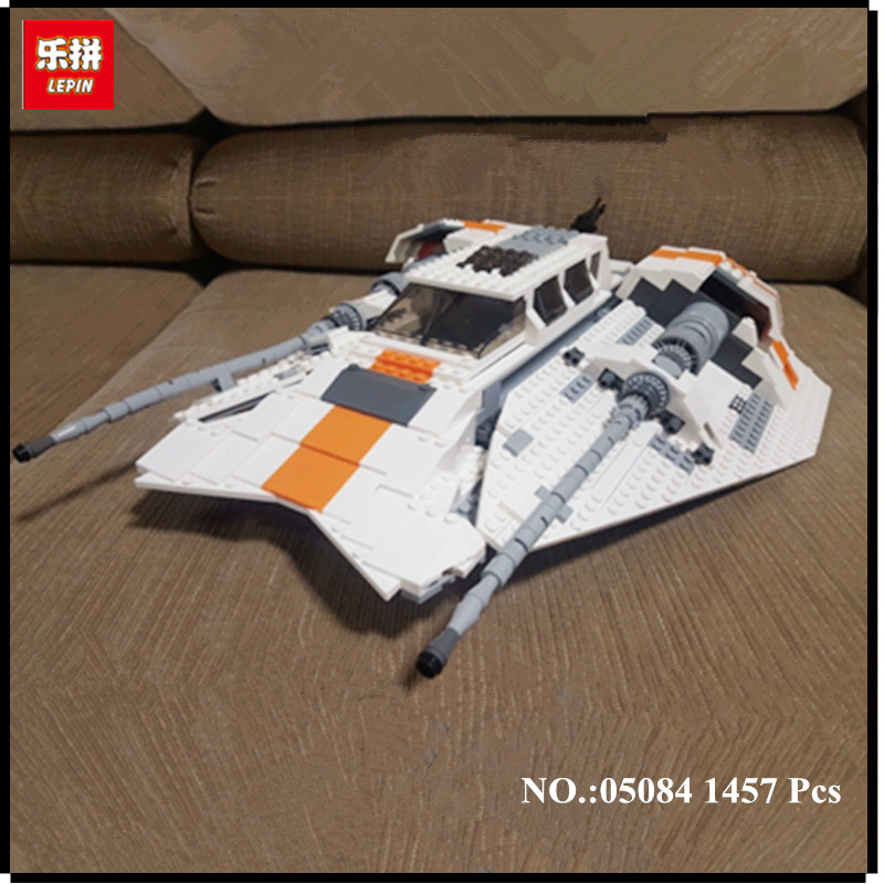 IN STOCK Lepin 05084 1457Pcs Series The Rebel Snowspeeder Set Educational Building Blocks Bricks Boy Toys Model Gift in stock lepin 02012 774pcs city series deepwater exploration vessel children educational building blocks bricks toys model gift