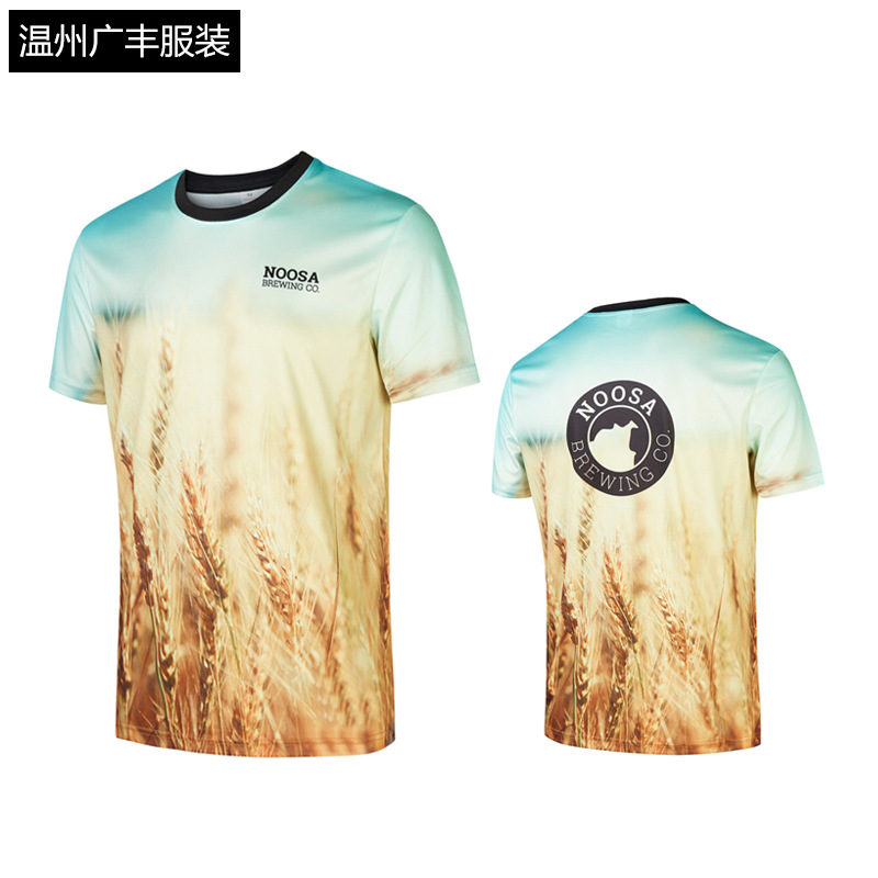 CZM423 Summer Fast Dry Short Sleeved T-shirt Wet and Exhaust Breathable Whole Heat Sublimation T-shirt