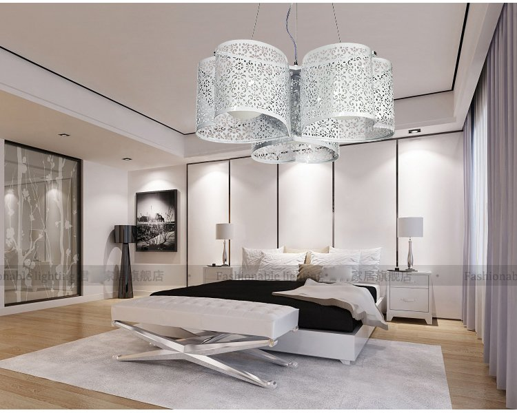 NEW Heart-shaped head fashion three contracted droplight Ceiling Light Sweet home light three voices one heart