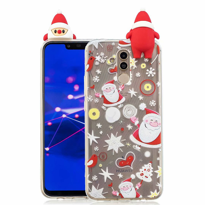 Christmas Case For Huawei Mate 20 Lite Case For Huawei Mate 10 / 10 Lite Covers Cute Coque Soft TPU Silicon Phone Cases