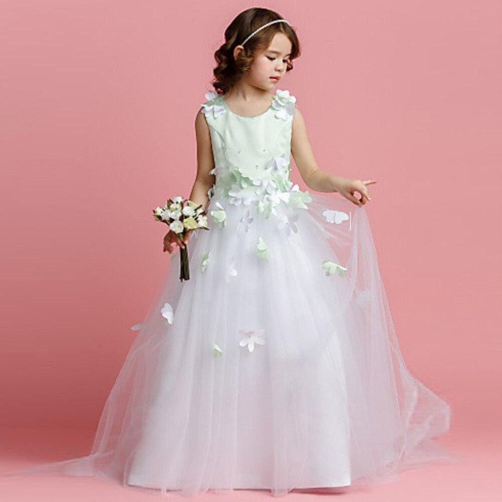kinder mädchen hochzeit kleid jugendliche angepasst mode kleid blumen  kinder party prinzessin kleid oansatz ballkleid kostüm kleid