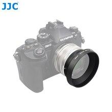 JJC parasol de lentes de Metal 46mm para OLYMPUS M.ZUIKO DIGITAL 17mm F1.8 sustituye a LH 48B
