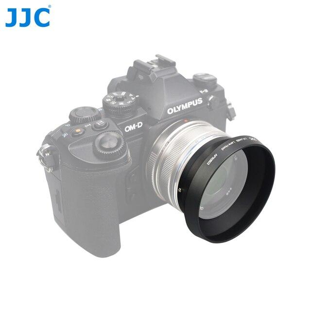 JJC pare soleil en métal 46mm pour OLYMPUS M. ZUIKO DIGITAL 17mm F1.8 remplace LH 48B