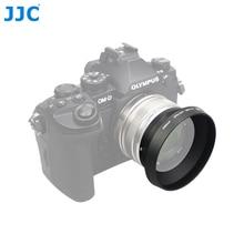 Jjc capuz de lente de metal 46mm, para olympus m. zuiko digital 17mm f1.8 substituição LH 48B