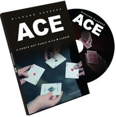Free Shipping ACE (Cards And DVD) By Richard Sanders - Card Magic Tricks,Close Up Magic,Metalism,Illusion,Props