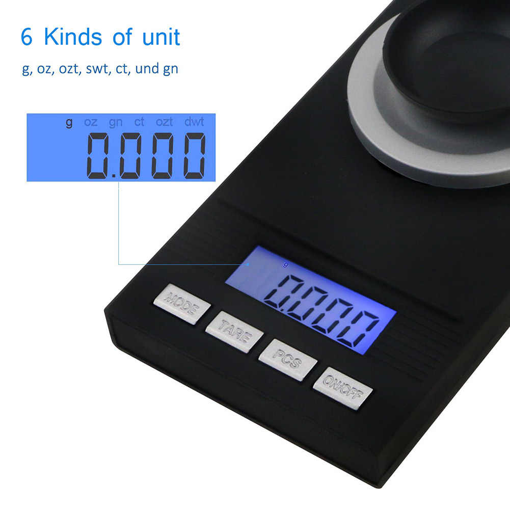 Electronic Digital Milligram Scale 50g/0.001g  Lab Scale Smart Electronic Balance Gram Carat Grain Reload Jewelry Millig TN88