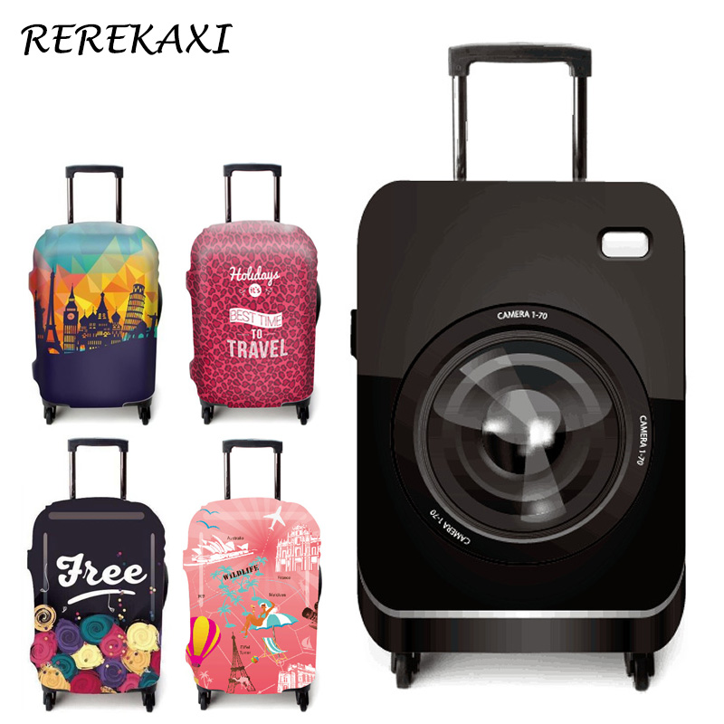 REREKAXI Travel luggage suitcase elastic protective cover for 19-32 inch trolley dust covers,trunk case cover,travel accessories