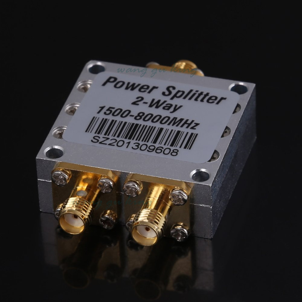 New1500~8000Mhz 2 Way RF Power Splitter Combiner w/ SMA Female Connector High Frequency 1.5-8Ghz Power Divider For 3G 4G DCS PCS